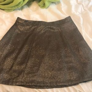 Gold sparkly skirt - French Connection